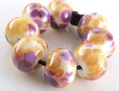 Clown Car Handmade Lampwork Rounds Set of 8 Beads
