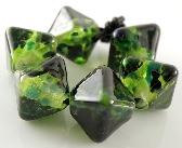 Rainforest Handmade Lampwork Crystal Beads Set of 6