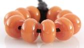 Apricot Jam Spacers Handmade Lampwork Glass Beads Set of 10
