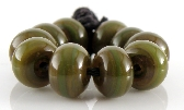 Jungle Twilight Spacers Handmade Lampwork Glass Beads Set of 10