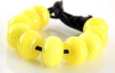 404 Light Lemon Yellow Spacers Handmade Lampwork Glass Beads Set of 10