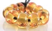 012 Light Amber Spacers Handmade Lampwork Glass Beads Set of 10