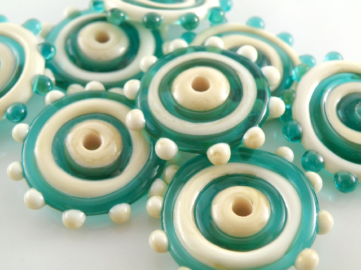 handmade lampwork disc beads