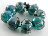 Deeper Waters Handmade Lampwork Rounds Set of 8 Beads