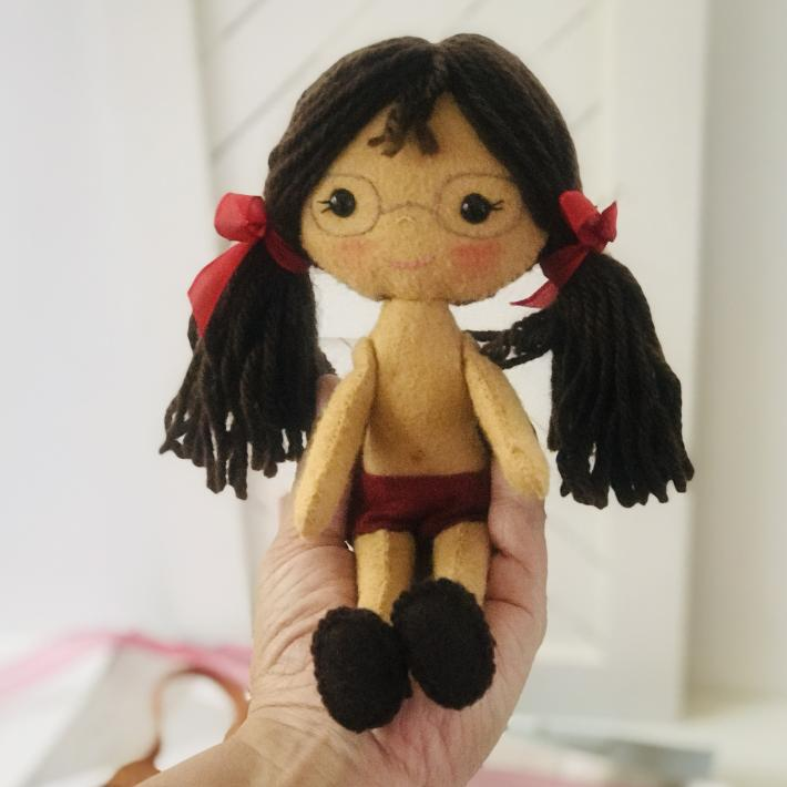 Gingermelon Felt Doll Lucia