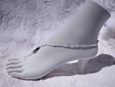 Barefoot sandals foot jewelry white