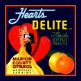 Petite Journal  Hearts Delite Citrus  Fruit Crate Art Print Cover