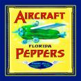 Petite Journal  Aircraft Peppers  Fruit Crate Art Print Cover