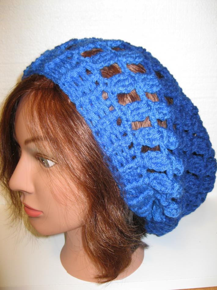 Women or Teen Girl Slouchy Mesh Hat Handmade Crochet Winter Fashion Accessory