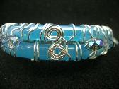 Cool Waters Glass Bracelet