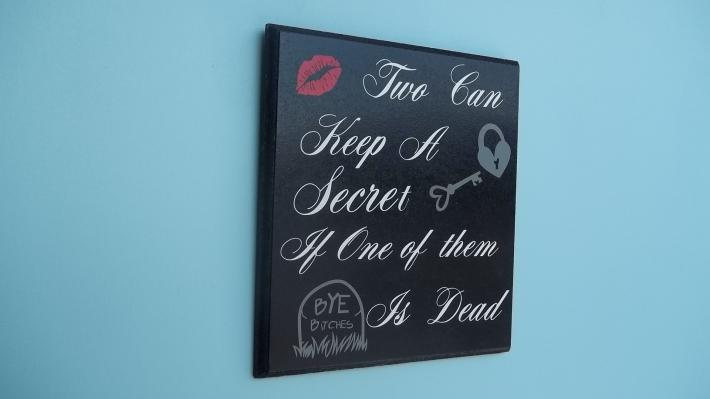 Pretty Little Liars Wall Hanging in Black