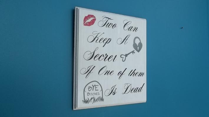 Pretty Little Liars Wall Hanging in White