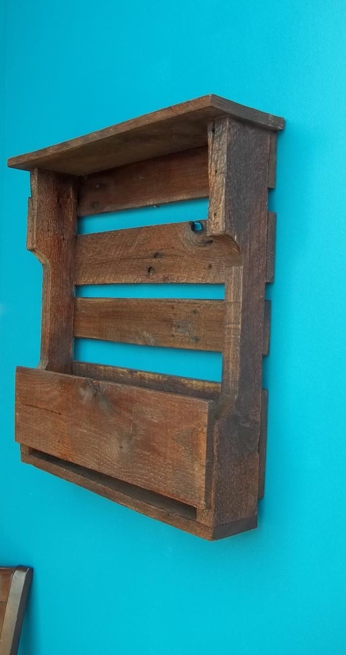 Handmade Rustic wooden Wine Bottle Rack