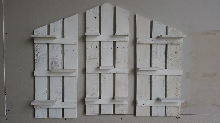 Set of 3 Rustic style Shelves