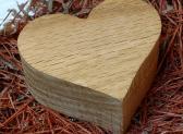 Heart shaped wooden box