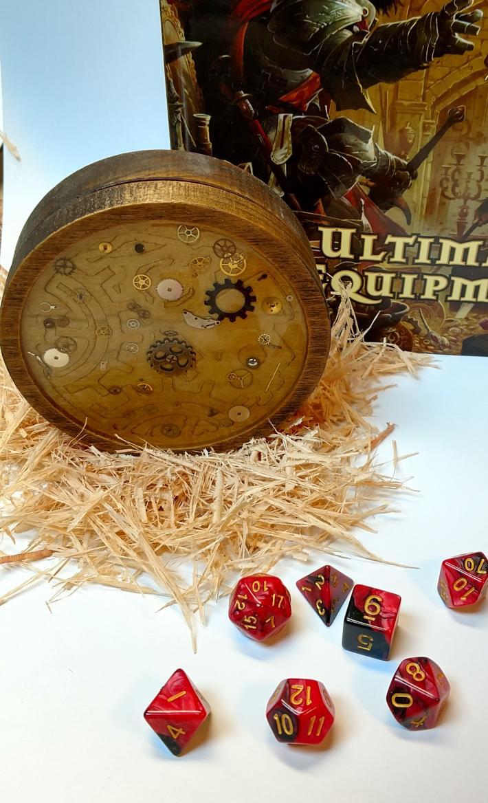 Handmade Wooden Steampunk Dice Box