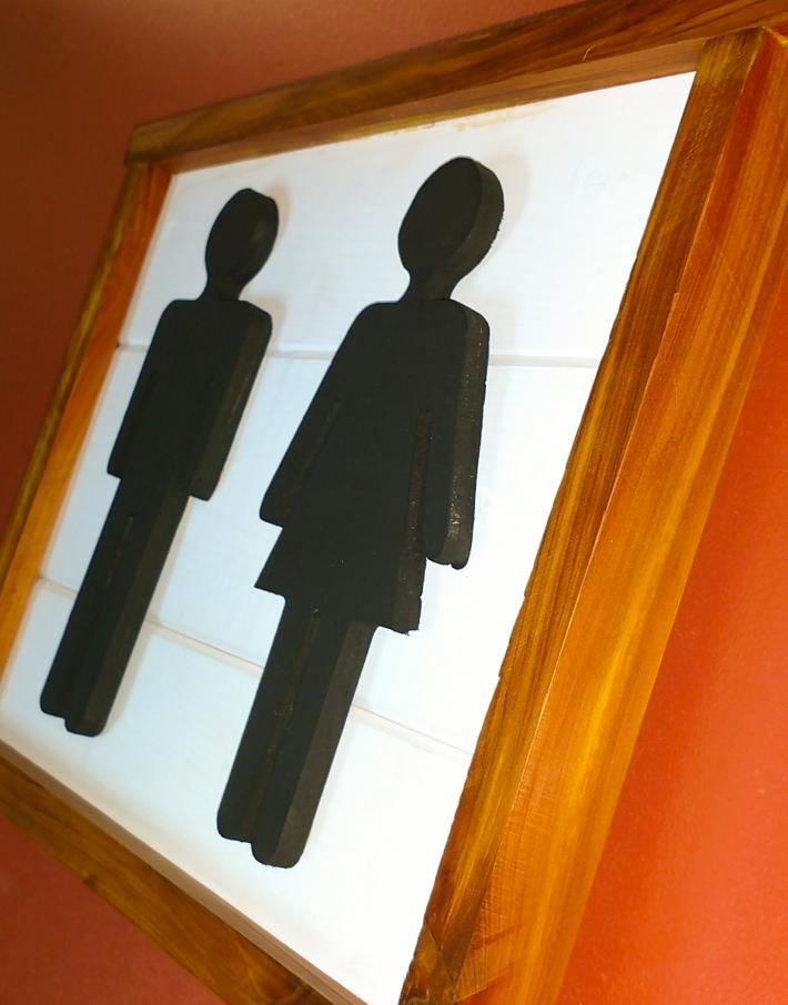 Bathroom People with White Background