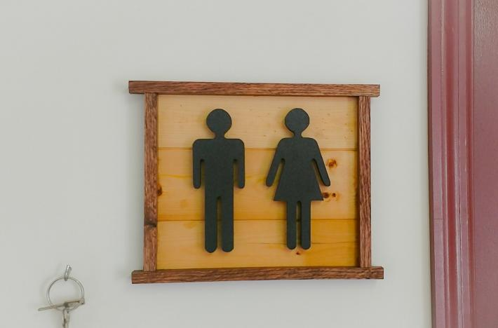 Bathroom People Man and Woman sign