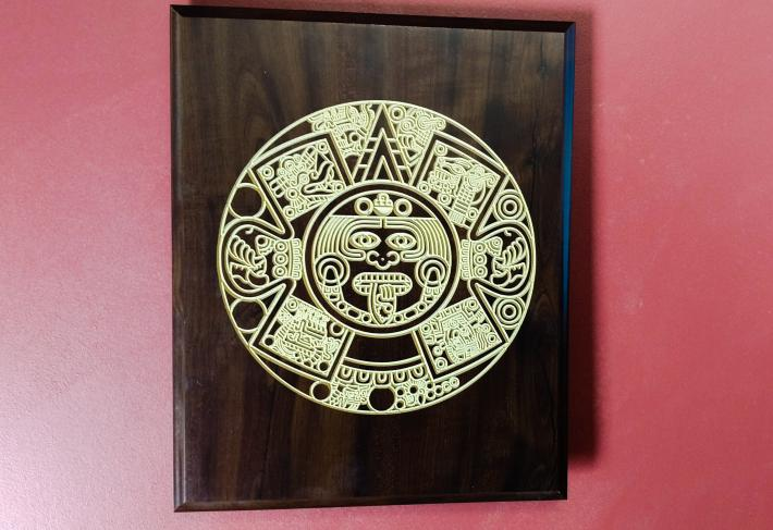 Southwest handmade wooden wall plaque