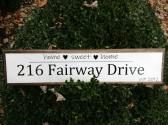 Custom Made Address Sign