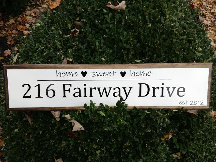 Custom Made Address Sign