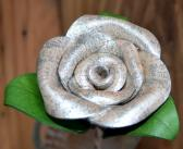 Handmade Leather Rose in Birthstone Color for April