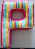 Alphabet Letter P Throw Pillow