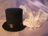 Top Hat and Veil Cake Topper