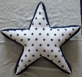 Five Point Star Novelty Throw Pillow