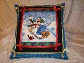Christmas Snowman Throw Pillow
