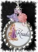 Personalized Rapunzel inspired Bottlecap necklace