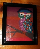 Handmade OWL Polymer Clay Painting