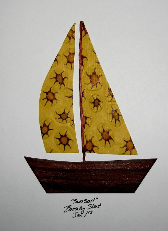 Sun Sail polymer clay art