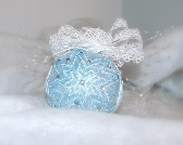 Ice Blue quilted Ornament