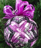 Larkspur Purple Passion Quilted Ornament