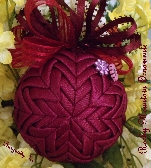 Burgundy Ice Quilted Ornament
