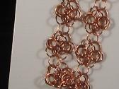 Copper Chainmaille Rosette Bracelet