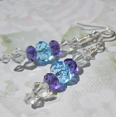 Winter Icicles earrings in crystals
