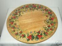 Hand Painted Lazy Susan with Strawberries