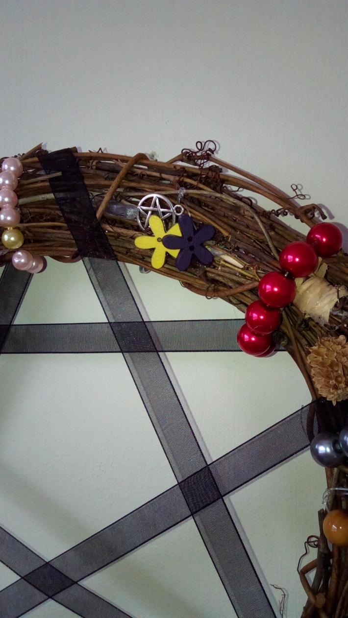 Pagan wheel of the year wreath all year round wreath