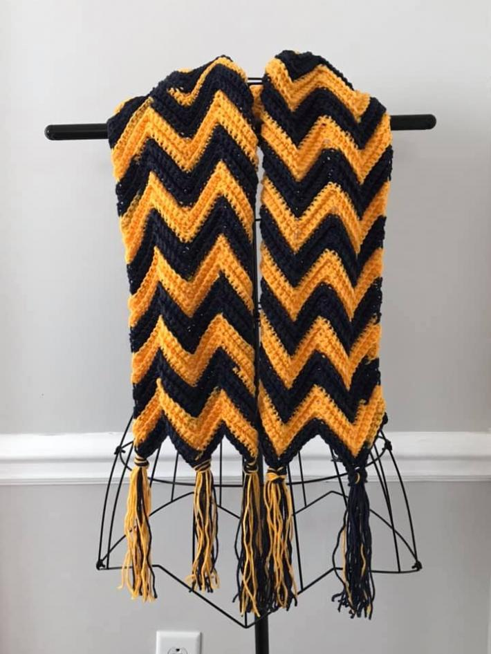 Navy and Gold Chevrons