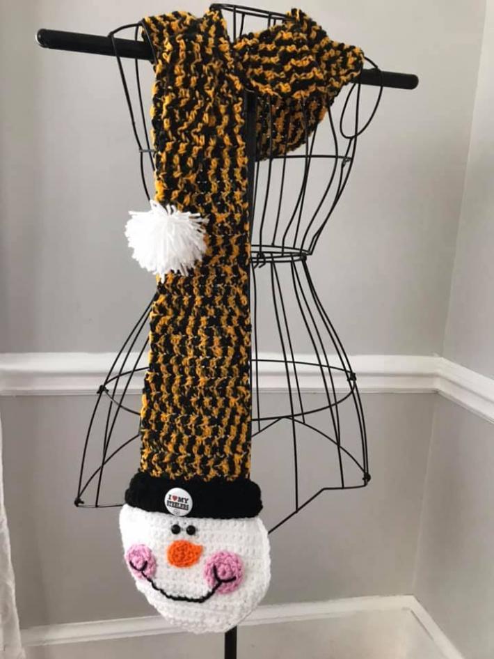 Steelers Longtail Frosty Scarf