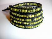 Nightly Safari Leather Wrap Bracelet