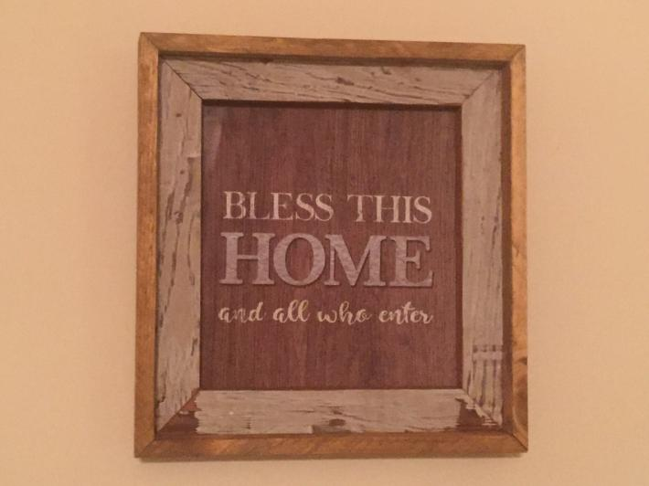 Bless This Home Weathered Wood Picture