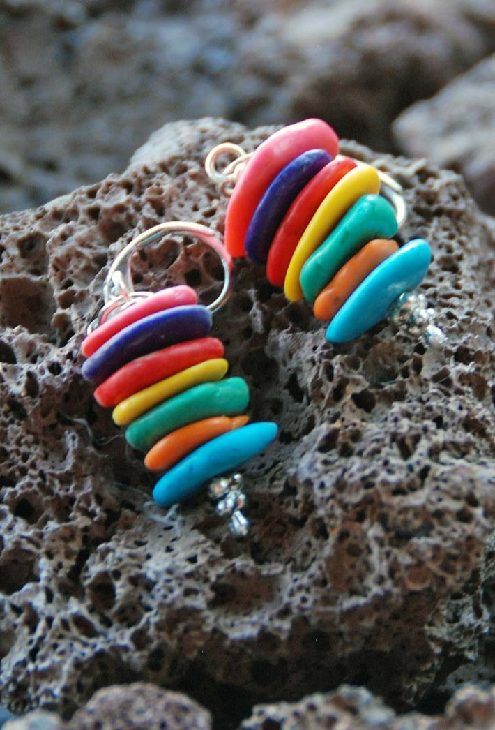 The Dangling Stacked Candy Earrings