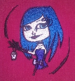 PES Embroidery Pattern Goth Girl