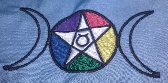 PES Embroidery Pattern Goddess Pentagram Pentacle Wicca Wiccan Pagan Witch Witchcraft