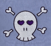 PES Embroidery Pattern Skull