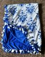 Blue Fleece No Sew Blanket