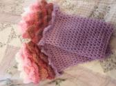 Scaled fingerless gloves size medium